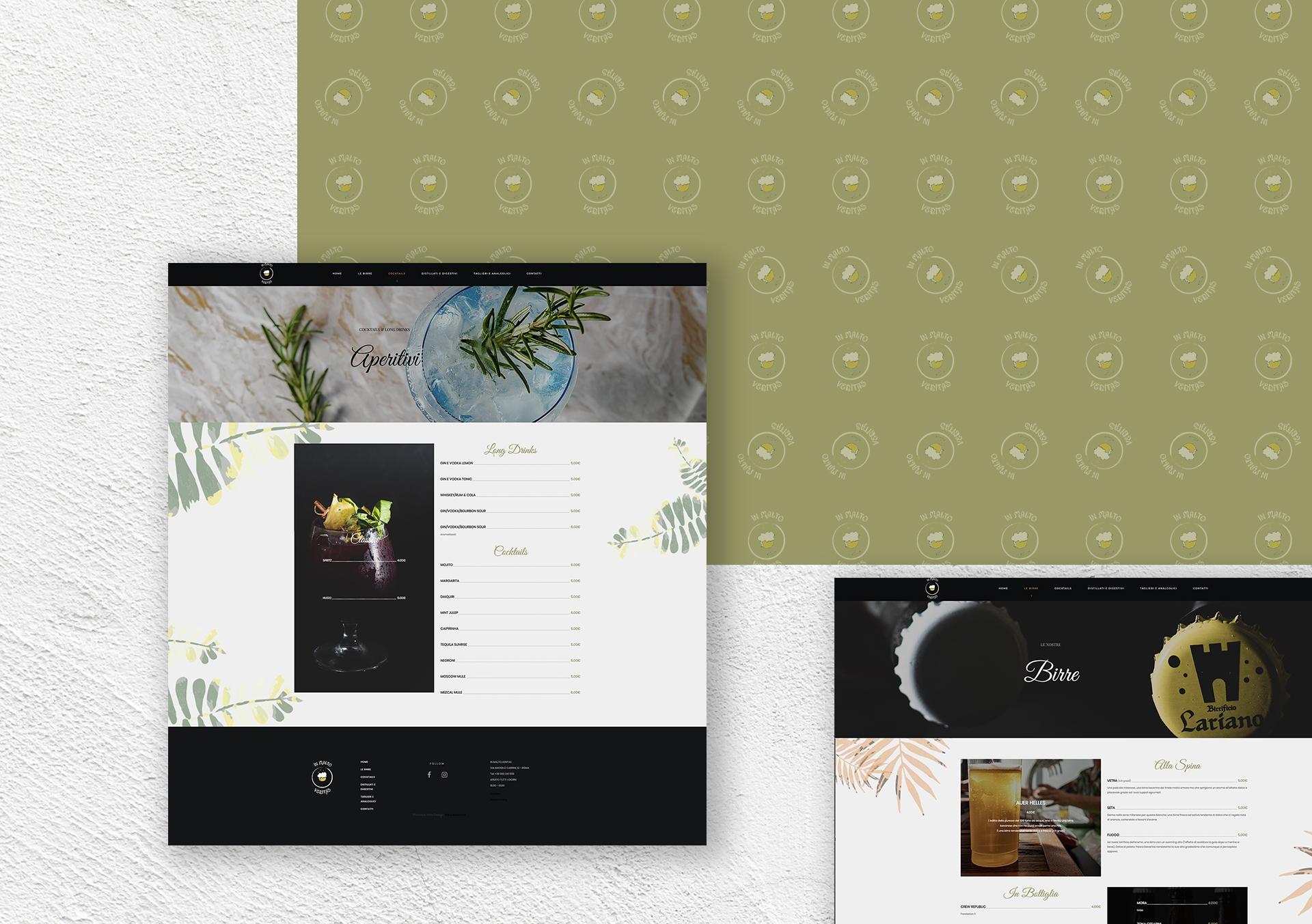 sito internet menu